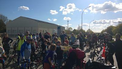 128 cyclistes, ça donne ça!