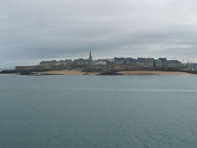 St Malo depuis le bateau