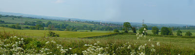 Panorama de la campagne du Cambridgeshire