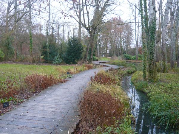 Aménagement-chemin-parc-du-château-du-Clos-Lucé,-Amboise