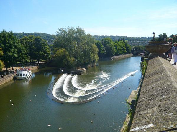 Vue-sur-la-rivière-Avon,-Bath