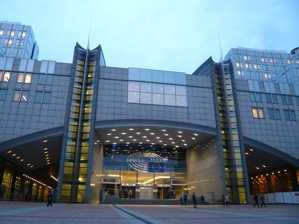 Entrée-Parlement-Européen,-
