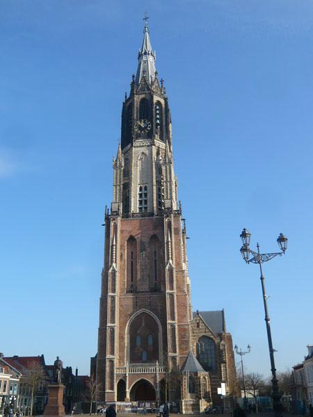 Clocher-Nieuwe-Kerk,-Delft