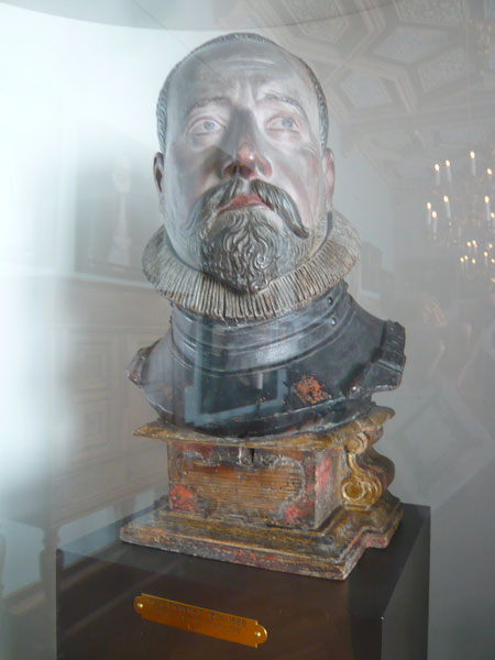 Buste-Frederik-II,Château-d