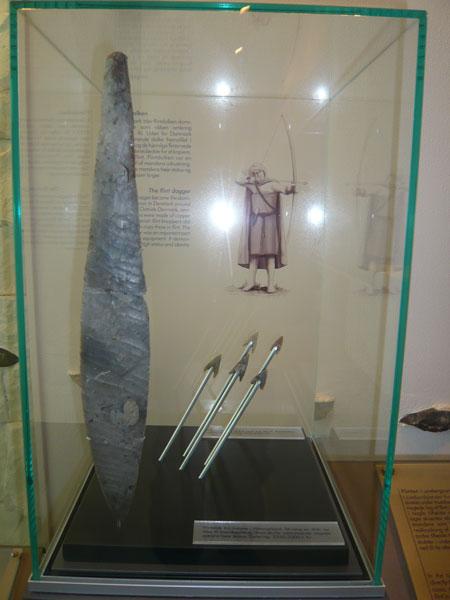 Dague-en-silex,-Musée-Vikin