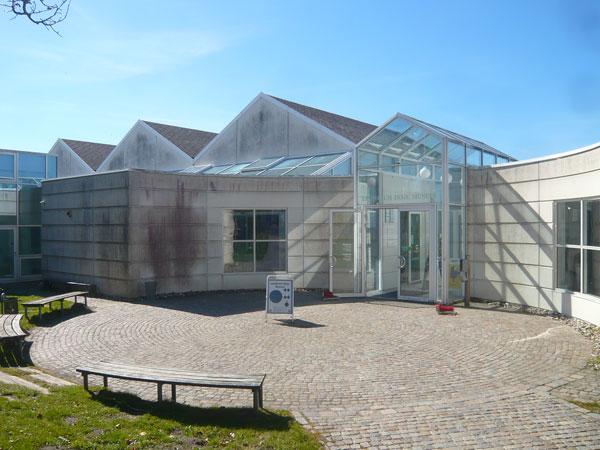 Entrée-du-musée-viking,-Lin