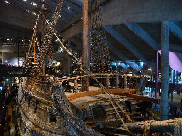 Pont-et-proue,-Musée-Vasa,-